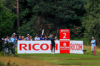 Nelly Korda (USA) on the 2nd tee during Round 3 of the Ricoh Women's British Open at Royal Lytham &amp; St. Annes on Saturday 4th August 2018.<br /> Picture:  Thos Caffrey / Golffile<br /> <br /> All photo usage must carry mandatory copyright credit (&copy; Golffile | Thos Caffrey)