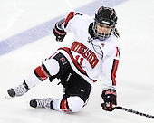 Rachel Llanes (NU - 11) - The Harvard University Crimson defeated the Northeastern University Huskies 4-3 (SO) in the opening round of the Beanpot on Tuesday, February 8, 2011, at Conte Forum in Chestnut Hill, Massachusetts.