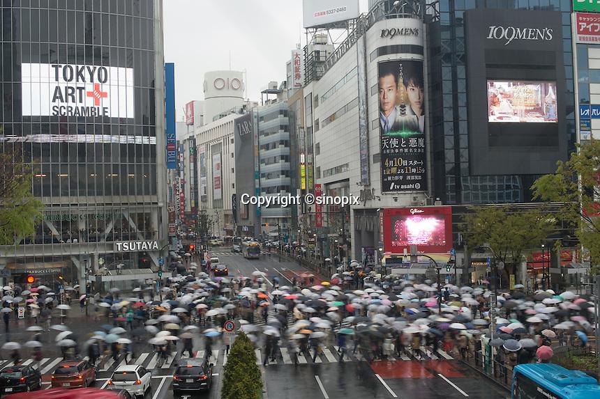Crossing in Shibuya, Tokyo, Japan