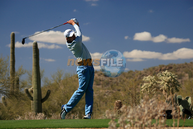 Mark Wilson (USA) in action on the 13th tee during Day 2 of the Accenture Match Play Championship from The Ritz-Carlton Golf Club, Dove Mountain, Thursday 24th February 2011. (Photo Eoin Clarke/golffile.ie)