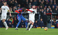 Crystal Palace's Cheikhou Kouyate and Burnley's Steven Defour<br /> <br /> Photographer Rob Newell/CameraSport<br /> <br /> The Premier League - Saturday 1st December 2018 - Crystal Palace v Burnley - Selhurst Park - London<br /> <br /> World Copyright &copy; 2018 CameraSport. All rights reserved. 43 Linden Ave. Countesthorpe. Leicester. England. LE8 5PG - Tel: +44 (0) 116 277 4147 - admin@camerasport.com - www.camerasport.com