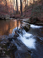 Goforth Creek cascades in winter, Cherokee National Forest