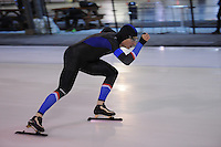SCHAATSEN: DEVENTER: IJsbaan De Scheg, 16-10-2016, Holland Cup, Sjoerd de Vries, 1000meter, ©foto Martin de Jong