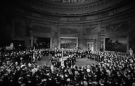 March 30th 1969, Washington, DC, USA. The funeral of President Dwight Eisenhower on March 30, 1969 in the U.S. Capitol Rotunda. The eulogy was delivered by President Richard Nixon.
