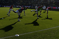 AC Milan players warm up before the Serie A 2018/2019 football match between Frosinone and AC Milan at stadio Benito Stirpe, Frosinone, December, 26, 2018 <br />  Foto Andrea Staccioli / Insidefoto
