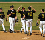 21 April 2007: The University of Vermont Catamounts celebrate a double-header sweep of the University of Hartford Hawks at Historic Centennial Field in Burlington, Vermont...Mandatory Photo Credit: Ed Wolfstein Photo