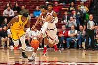 STANFORD, CA - DECEMBER 20: Stanford, CA December 17, 2019. The Stanford Cardinal Men's Basketball Team vs San Francisco Dons at Maples Pavilion.  Stanford Cardinal defeats San Francisco Dons  64-56 during a game between San Francisco Dons and Stanford Basketball M at Maples Pavilion on December 20, 2019 in Stanford, California.
