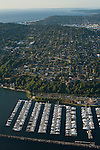 Aerial view of Elliott Bay Marina with Magnolia neighborhood