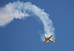 David Martin performs during the National Championship Air Races at the Reno-Stead Airfield Friday, Sept. 18, 2015.