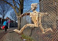 Kunst in een hek in Eindhoven. Fence Art