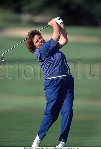 DALE REID, The Solheim Cup, St Pierre, 960922. Photo: Neil Tingle/Action Plus...1996.women's golf.golfer golfers.woman