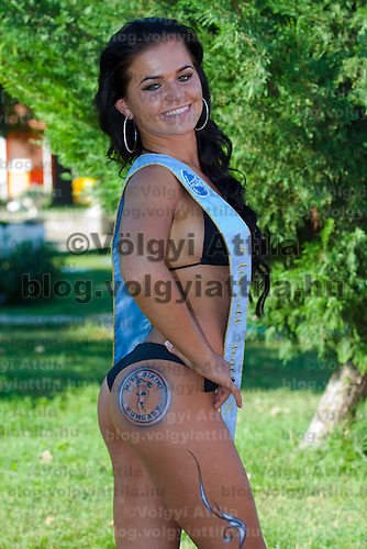 Eliza Levai winner of the prize for the most beautiful butt during the Miss Bikini Hungary beauty contest held in Budapest, Hungary. Sunday, 29. August 2010. ATTILA VOLGYI