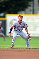 Harrisburg Senators shortstop Jason Martinson #5 during a game against the Erie Seawolves on July 2, 2013 at Jerry Uht Park in Erie, Pennsylvania.  Erie defeated Harrisburg 2-1.  (Mike Janes/Four Seam Images)