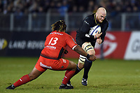 Matt Garvey of Bath Rugby goes on the attack. European Rugby Champions Cup match, between Bath Rugby and RC Toulon on December 16, 2017 at the Recreation Ground in Bath, England. Photo by: Patrick Khachfe / Onside Images
