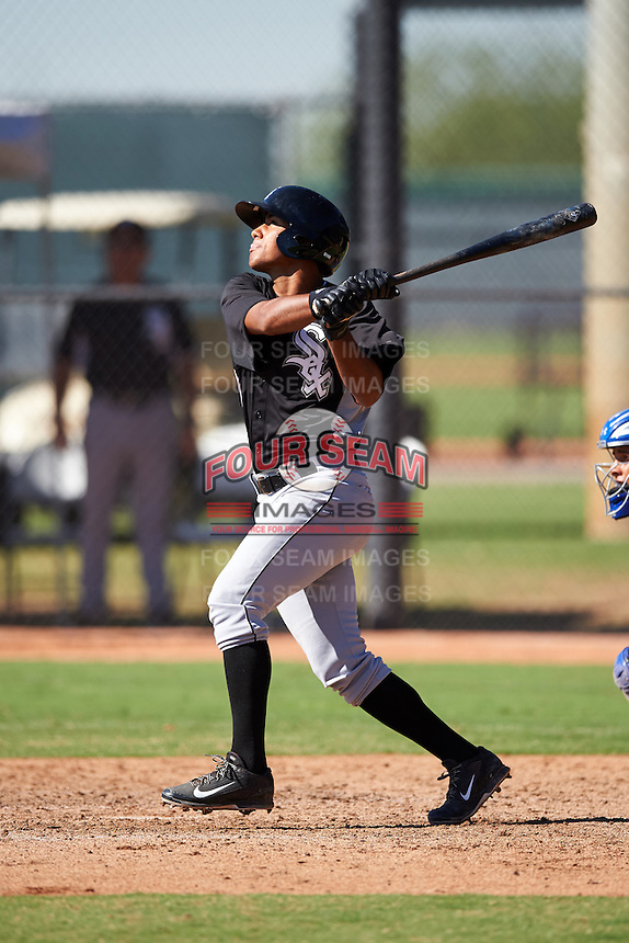 Chicago White Sox Lenyn Sosa (1) during an Instructional League game against the Los Angeles Dodgers on October 15, 2016 at the Camelback Ranch Complex in Glendale, Arizona.  (Mike Janes/Four Seam Images)