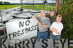 Seamus Sherlock with his sons Dermot and JJ who have barricaded theme selves into the family farm in Feohanagh, Newcastlewest. This action has been taken after receiving an execution order from Royal Bank of Scotland nearly two weeks ago.