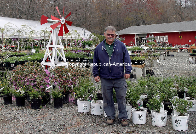 WOLCOTT, CT- 04 MAY 2005- 050405DA02.JPG - A Public Flower and Garden Center. (owner) Maurice Blanchette.  For marketplace. Staff photo. Darlene Douty.