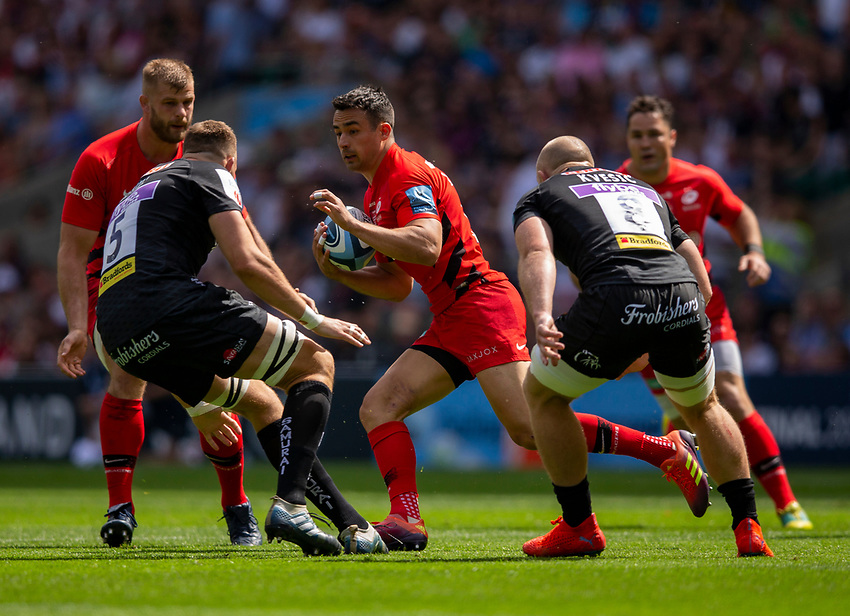 Saracens' Alex Lozowski in action during todays match<br /> <br /> Photographer Bob Bradford/CameraSport<br /> <br /> Gallagher Premiership Final - Exeter Chiefs v Saracens - Saturday 1st June  2018 - Twickenham Stadium - London<br /> <br /> World Copyright © 2019 CameraSport. All rights reserved. 43 Linden Ave. Countesthorpe. Leicester. England. LE8 5PG - Tel: +44 (0) 116 277 4147 - admin@camerasport.com - www.camerasport.com