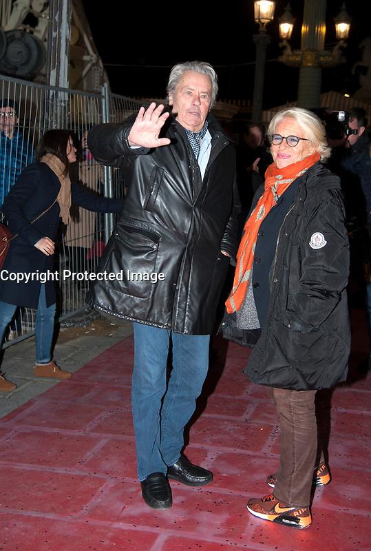 November 17 2017, PARIS FRANCE<br /> inauguration of the Big Wheel at Place de la Concorde Paris, in the presence of the Actor Alain Delon.