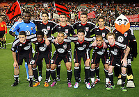 Starting eleven of D.C. United during an MLS match against the New York Red Bulls at RFK Stadium, in Washington D.C. on April 21 2011. Red Bulls won 4-0.