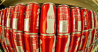 Six-packs of 7.5 ounce cans of Coca-Cola in a supermarket in New York on Friday, May 25, 2012.  (© Richard B. Levine)