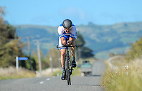 David Roche (Pegasus Cycling) masters men 5 time trials. Time trials on Day One of the 2018 NZ Age Group Road Cycling Championships in Carterton, New Zealand on 20 April 2018. Photo: Dave Lintott / lintottphoto.co.nz