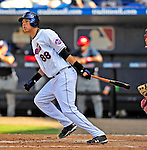 7 March 2009: New York Mets' infielder Wilmer Flores in action during a Spring Training game against the Washington Nationals at Tradition Field in Port St. Lucie, Florida. The Nationals defeated the Mets 7-5 in the Grapefruit League matchup. Mandatory Photo Credit: Ed Wolfstein Photo
