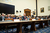 """Former Trump campaign manager Corey Lewandowski, center, waits to give testimony before the United States House Committee on the Judiciary conducts a hearing titled """"Presidential Obstruction of Justice and Abuse of Power"""" on Capitol Hill in Washington, DC on Tuesday, September 17, 2019.  The empty chair at left is reserved for Rick Dearborn, who refused to appear and the empty chair at right is reserved for Robert Porter, who also refused to appear. <br /> Credit: Ron Sachs / CNP<br /> (RESTRICTION: NO New York or New Jersey Newspapers or newspapers within a 75 mile radius of New York City)"""