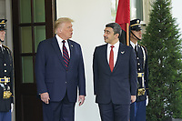 United States President Donald J. Trump welcomes Sheikh Abdullah bin Zayed bin Sultan Al Nahyan, Minister of Foreign Affairs and International Cooperation of the United Arab Emirates, to the White House in Washington, DC on Tuesday, September 15, 2020.  Dr. Alzayani is in Washington to sign the Abraham Accords, a peace treaty with the State of Israel.<br /> Credit: Chris Kleponis / Pool via CNP /MediaPunch