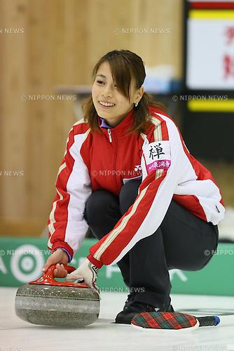 Kie Igarashi (Josai Univ), .APRIL 1, 2013 - Curling : .Karuizawa Ice Park .Ladies match .at Karuizawa Ice Park, Nagano, Japan. .(Photo by YUTAKA/AFLO SPORT)
