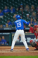 Alex Rodriguez (19) of the Kentucky Wildcats at bat against the Louisiana Ragin' Cajuns in game seven of the 2018 Shriners Hospitals for Children College Classic at Minute Maid Park on March 4, 2018 in Houston, Texas.  The Wildcats defeated the Ragin' Cajuns 10-4. (Brian Westerholt/Four Seam Images)