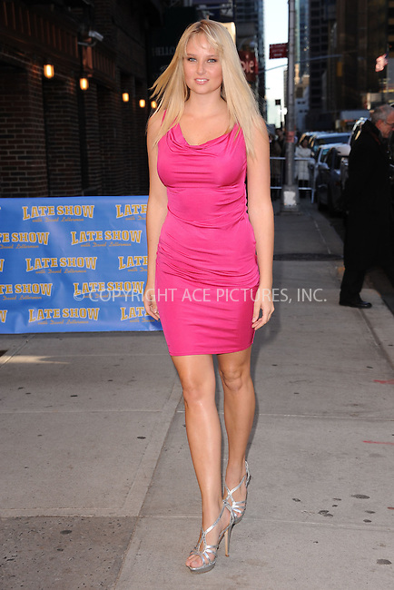 WWW.ACEPIXS.COM . . . . . February 13, 2012...New York City...Genevieve Morton tapes an appearance on  the Late Show with David Letterman on February 13, 2012 in New York City....Please byline: KRISTIN CALLAHAN - ACEPIXS.COM.. . . . . . ..Ace Pictures, Inc: ..tel: (212) 243 8787 or (646) 769 0430..e-mail: info@acepixs.com..web: http://www.acepixs.com .