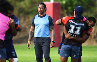 Ruben Wiki.<br /> Vodafone Warriors training session. Mt Smart Stadium, Auckland, New Zealand. NRL Rugby League. Wednesday 9 May 2018 &copy; Copyright photo: Andrew Cornaga / www.photosport.nz