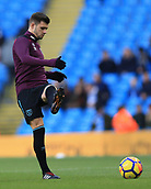 3rd December 2017, Etihad Stadium, Manchester, England; EPL Premier League football, Manchester City versus West Ham United; Aaron Cresswell of West Ham warming up