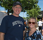 Larry Johnston and Alanna Fitzgerald at the Tour De Nez Bike Race in downtown Reno on Saturday, June 11, 2016.