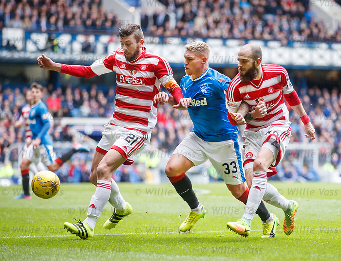 Martyn Waghorn with Massimo Donati and Georgios Samaras