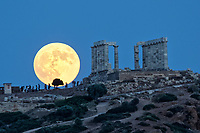 2018 07 27 Blood moon, Sounion, Greece