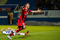 STEVEN THOMPSON CELEBRATES AFTER HE HEADS HOME ST MIRREN'S SECOND