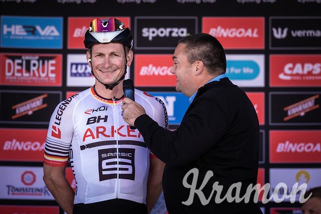 André Greipel (GER/Arkea Samsic) pre race interview<br /> <br /> 104th Kampioenschap van Vlaanderen 2019<br /> One Day Race: Koolskamp > Koolskamp 186km (UCI 1.1)<br /> ©kramon