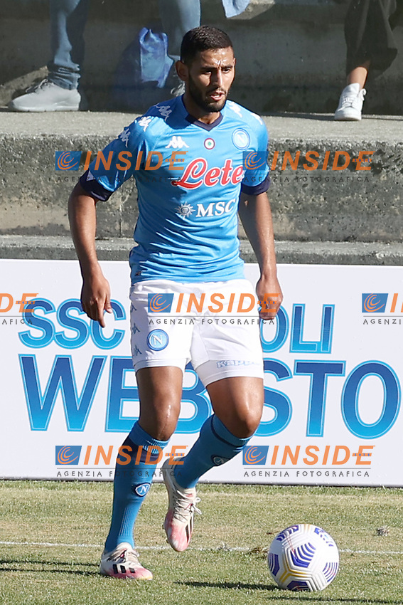 Faouzi Ghoulam of SSC Napoli<br /> during the friendly football match between SSC Napoli and SS Teramo Calcio 1913 at stadio Patini in Castel di Sangro, Italy, September 04, 2020. <br /> Photo Cesare Purini / Insidefoto