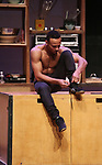 Cast members from the Montreal-based circus The 7 Fingers (Les 7 Doigts) in rehearsal for 'Cuisine & Confessions' at the NYU Skirball on April 11, 2017 in New York City.