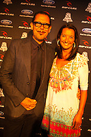 BELLS BEACH, Victoria/Australia (Friday, April 22, 2011) -  Member of the rock group INXS Kirk Pengilly (AUS) with Layne Beachley (AUS).  Last night celebrated 50-years of competitive surfing at the Rip Curl Pro and the Bells Beach Easter Rally at Bells Beach, Australia's ancestral home of surfing. To honour this milestone a 50 th Anniversary Surfers Ball was held at Surfworld in Torquay, with some of surfing's biggest names in attendance...Iconic names of the sport included Nat Young (AUS), four times World Surfing Champion Mark Richards(AUS), seven times World Surfing Champion Layne Beachley (AUS), two  times World Surfing Champion Tom Carroll (AUS), Damien Hardman (AUS), four times World Surfing Champion Stephanie Gilmore (AUS), former World Surfing Champion Mark Occhilupo (AUS), trhee times World Surfing Champion Tom Curren (USA) and  current ten times World Surfing Champion Kelly Slater  (USA) were on hand to pay homage to the longest running surfing event in the world. . - Photo: joliphotos.com