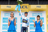 Picture by Alex Whitehead/SWpix.com - 11/07/2017 - Cycling - Le Tour de France - Stage 11, Eymet to Pau - Simon Yates of Orica Scott retains the Young Rider's Jersey.