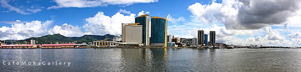 Port of Spain from the sea - panoramic