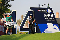 Shane Lowry (IRL) on the 14th tee during the Pro-Am for the DP World Tour Championship at the Jumeirah Golf Estates in Dubai, UAE on Monday 16/11/15.<br /> Picture: Golffile | Thos Caffrey<br /> <br /> All photo usage must carry mandatory copyright credit (&copy; Golffile | Thos Caffrey)