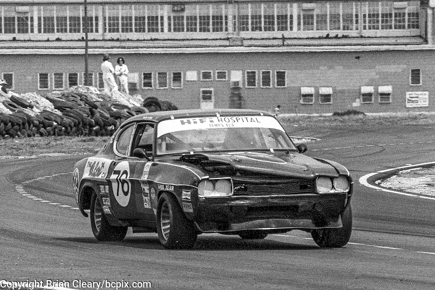 #76 Ford Capri of Timothy Lee, Al White, and Irwin Ayes (48th place) 12 Hours or Sebring, Sebring International Raceway, Sebring, FL, March 19, 1983.  (Photo by Brian Cleary/bcpix.com)