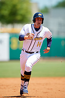 Montgomery Biscuits designated hitter Nick Ciuffo (14) runs the bases during a game against the Mississippi Braves on April 25, 2017 at Montgomery Riverwalk Stadium in Montgomery, Alabama.  Mississippi defeated Montgomery 3-2.  (Mike Janes/Four Seam Images)