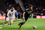Eduardo Meza of Argentina (R) in action against Jordi Alba of Spain (L) during the International Friendly 2018 match between Spain and Argentina at Wanda Metropolitano Stadium on 27 March 2018 in Madrid, Spain. Photo by Diego Souto / Power Sport Images