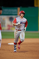 Williamsport Crosscutters Rudy Rott (26) runs the bases after hitting a home run during a NY-Penn League game against the Batavia Muckdogs on August 25, 2019 at Dwyer Stadium in Batavia, New York.  Williamsport defeated Batavia 10-3.  (Mike Janes/Four Seam Images)