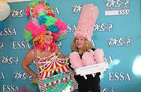 NWA Democrat-Gazette/CARIN SCHOPPMEYER <br /> Nisa ALlen (left) and Sabina Miller<br /> Eureka Springs School of the Arts Mad Hatter Ball<br /> Oct. 18, 2019